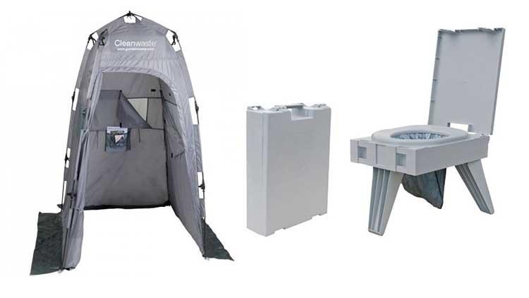 toilet tents