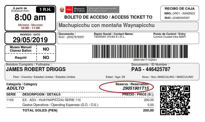 Huayna Picchu Tickets