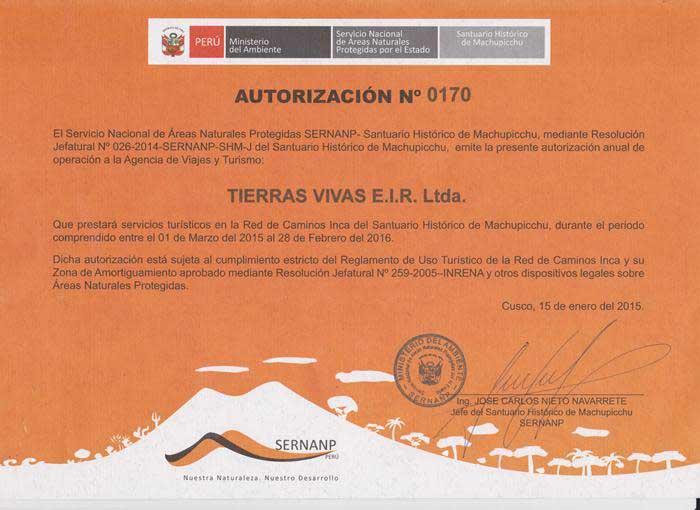 inca trail tour operators 2015