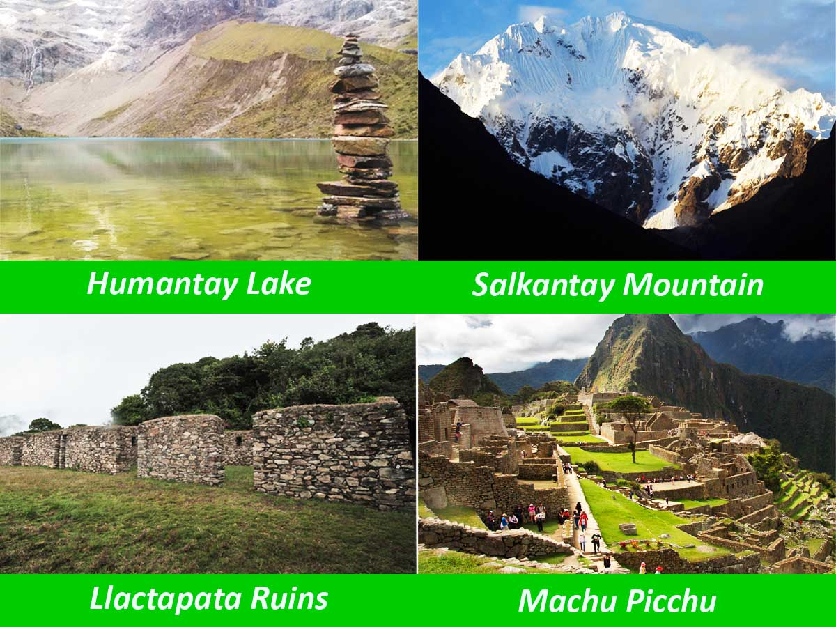 What do you view during the Salkantay Trek?