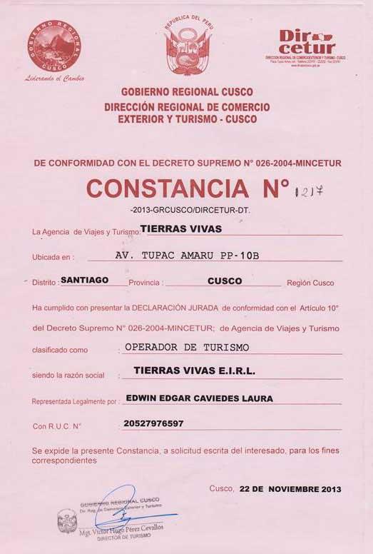 Dircetur Cusco Tierras Vivas