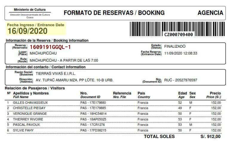 Machu Picchu Permits 2020