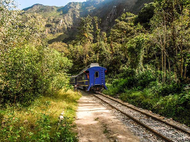 Train to Machu Picchu Peru Rail