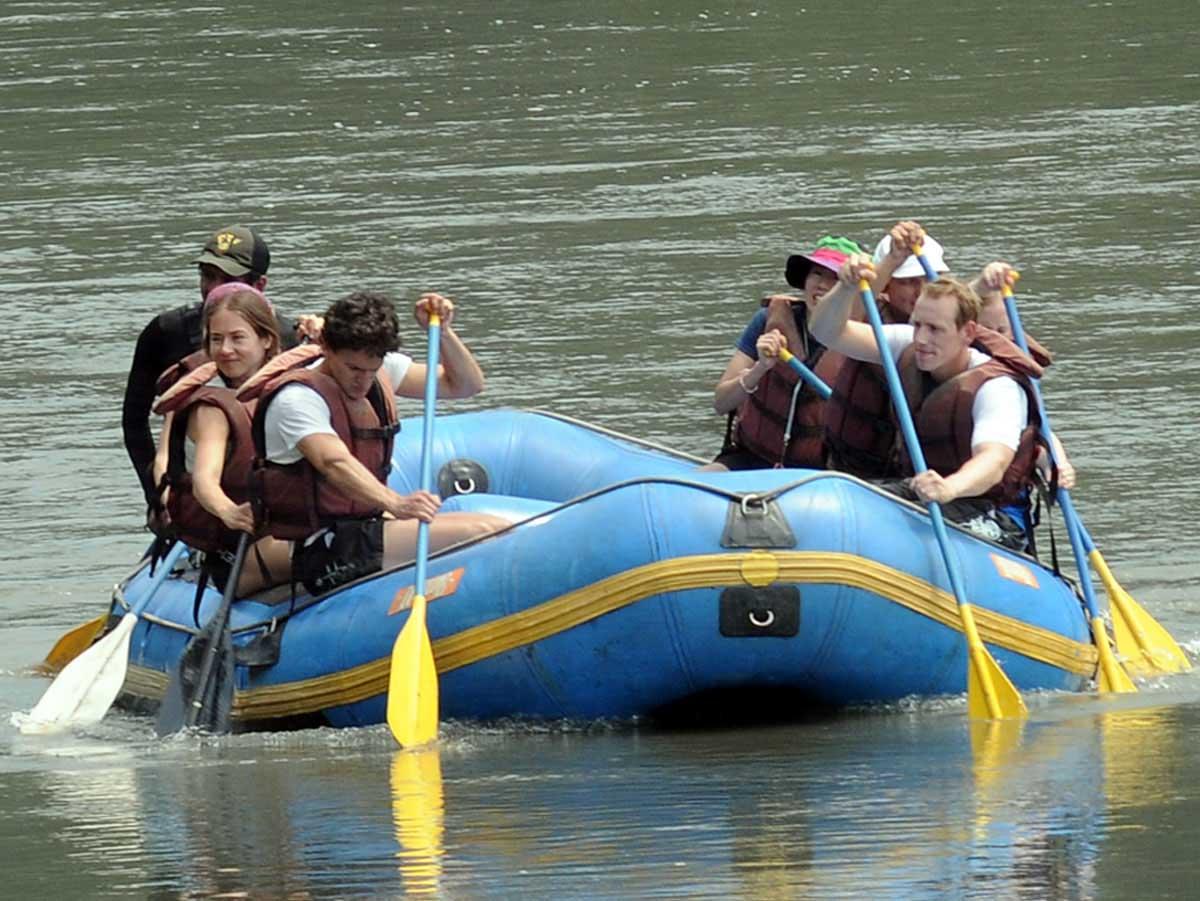 White water rafting Peru